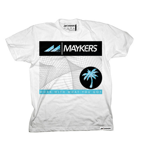 "MAYKERS ""Palms Graph"" Tee White"