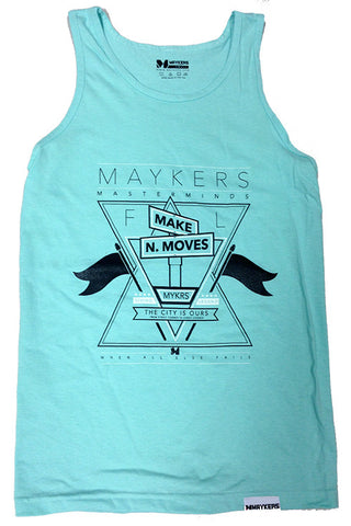 MAYKERS Make-N-Moves Tank Celadon