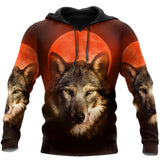 Wolf 3D All Over Print Hoodie For Men and Women Pi04092005