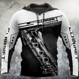 Clarinet music 3d hoodie shirt for men and women HAC31