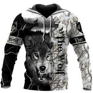 Wolf 3D All Over Printed Hoodie For Men and Women Pi03092001