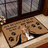 All Guests Must Be Approved By Our Pit Bull Mat 03