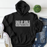 Dad of girls #outnumbered Hoodie