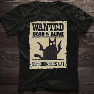 Wanted Schrodinger Cat T-Shirt 02