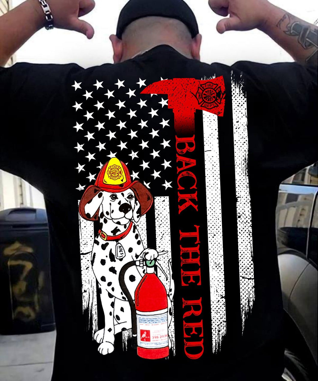 BACK THE RED - Firefighter T-shirt