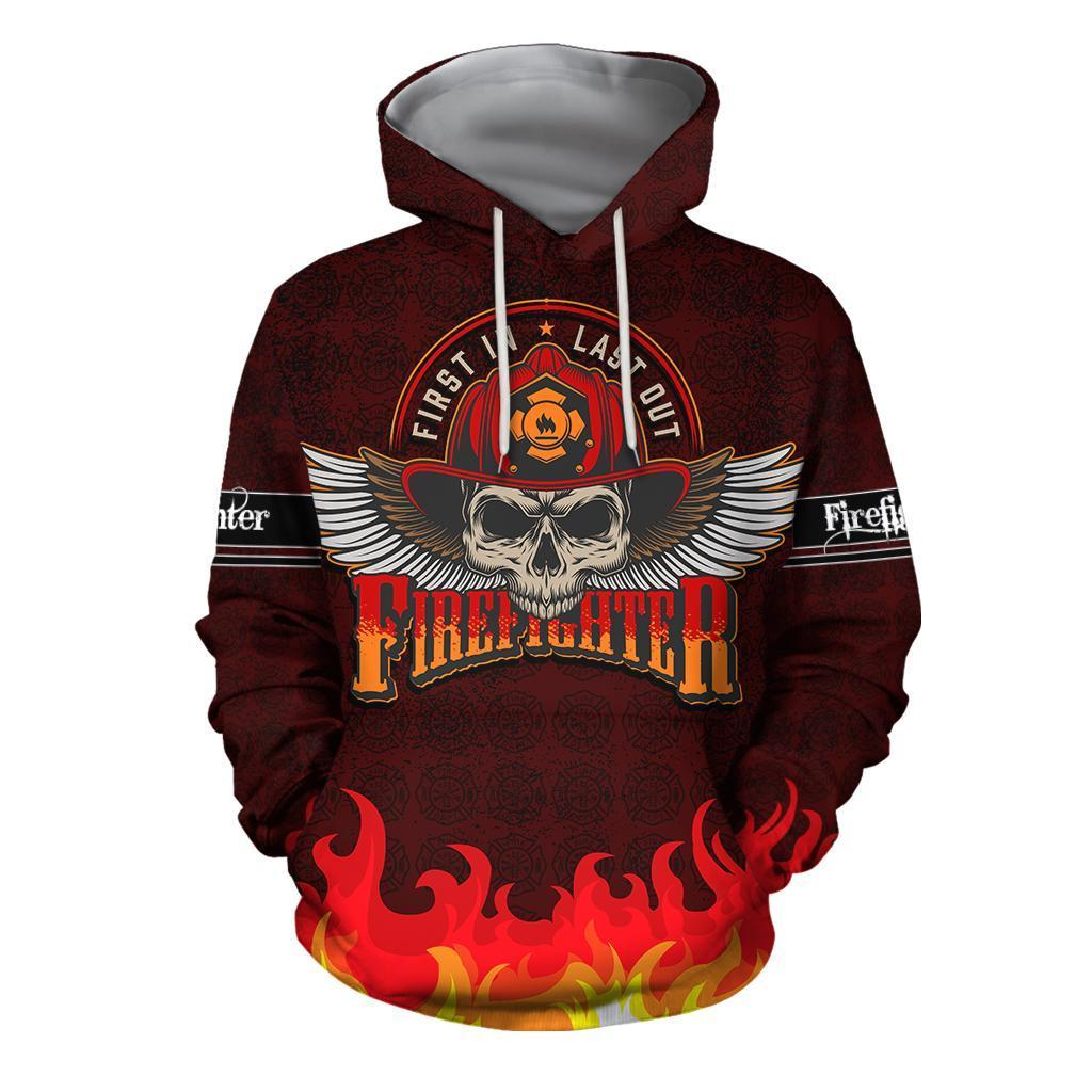 Cool Skull Firefighter Hoodie For Men And Women DQB08242002-TQH