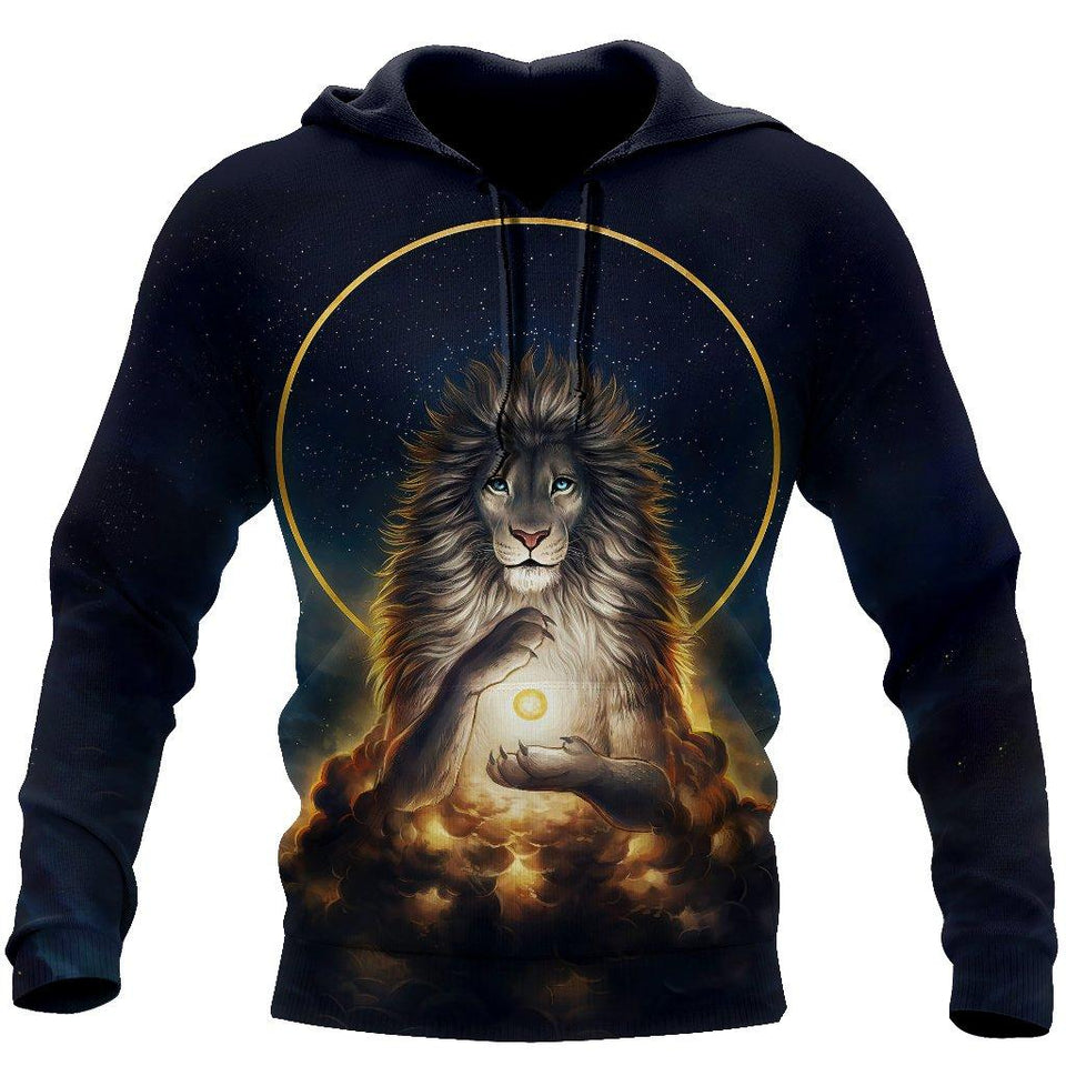 3D Magical Lion God Over Printed Hoodie -TP