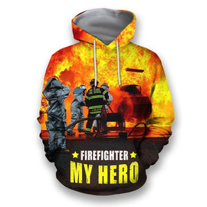 All over printed firefighter shirt Hb1