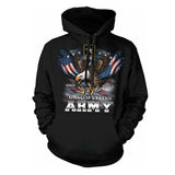 US Army Hoodie Since 1775 Eagle with American Flag Wings HC1702