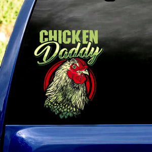 Chicken Daddy Car Sticker