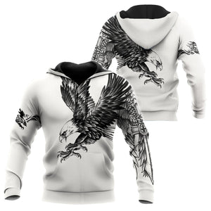 Eagle Tatoo Hoodie 3D All Over Printed Shirts For Men Pi150