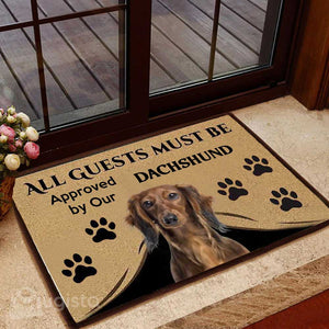 All Guests Must Be Approved By Our Dachshund Mat
