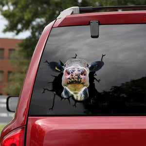 DAIRY COW CRACK STICKER CATTLE LOVER 4