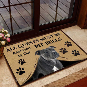 All Guests Must Be Approved By Our Pit Bulls Mat 01