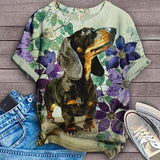 Dachshund Summer Lilac Flower Art