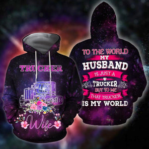 All Over Printed Trucker Wife Hoodie HHT08092019-MEI