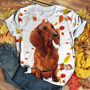 Dachshund Floral Love you T-Shirt