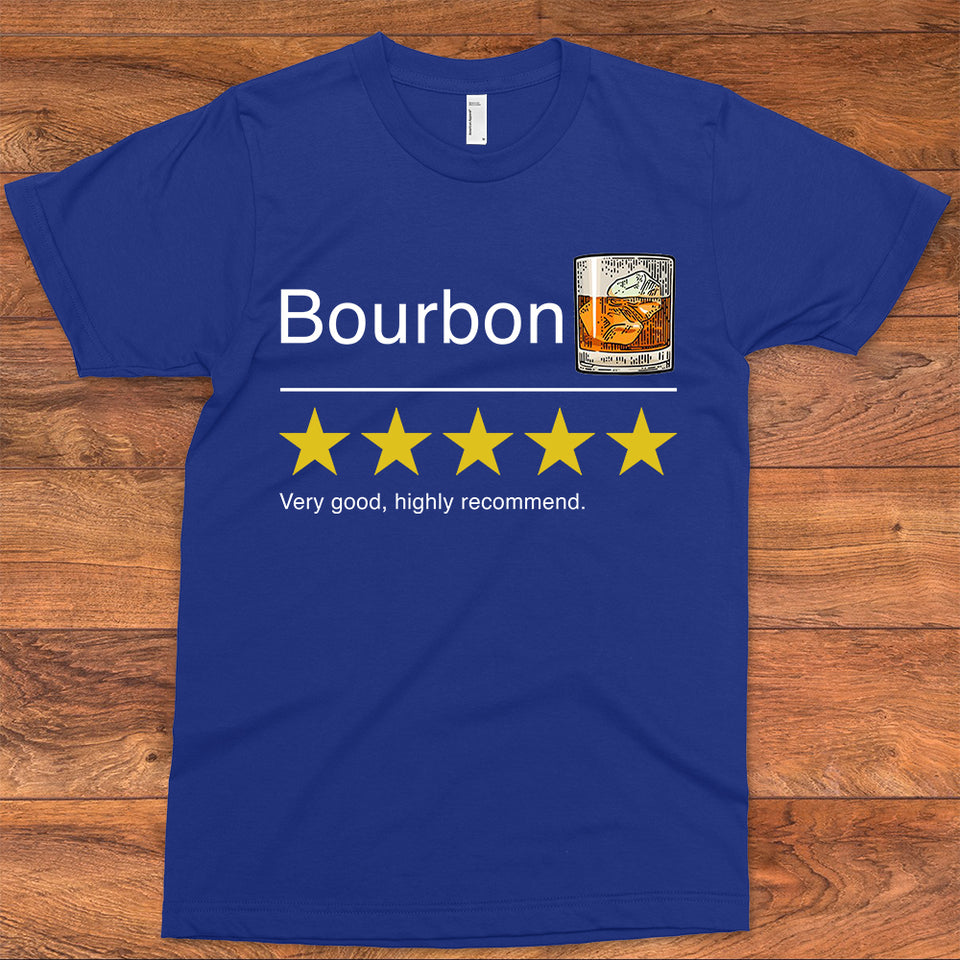 Bourbon Rating 5 Stars T-Shirt