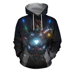 3D Print All Over I'mIronMan-Mark85 EndGame Hoodie