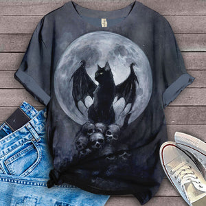 Black Cat To The Moon T-shirt