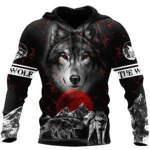 Night Wolf 3D All Over Printed Hoodie For Men and Women AM092