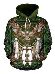 BARRED OWL MANDALA NATIVE AMERICAN ALL OVER HOODIE NVD1306