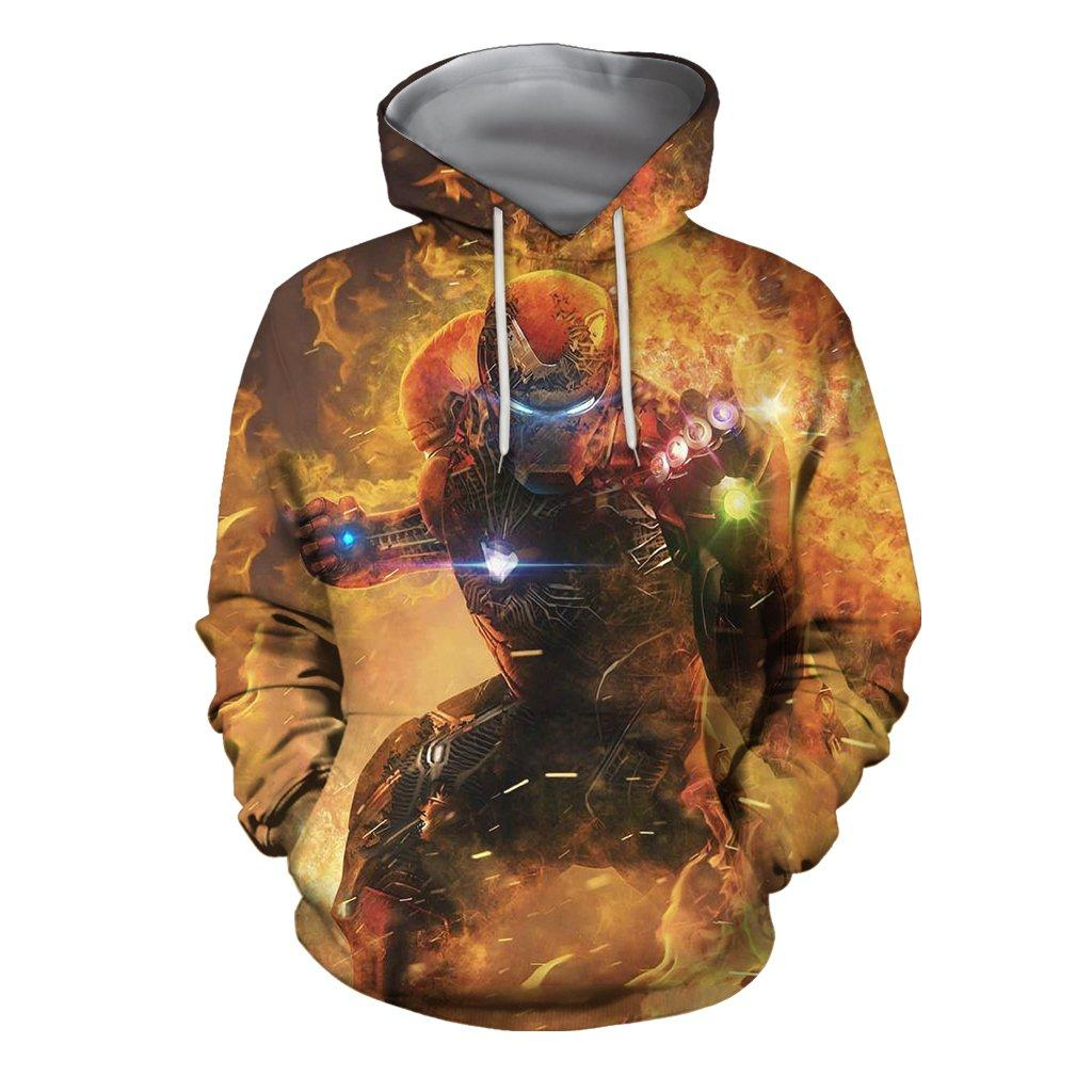 3D Print All Over Unisex IronMan-Mark85 EndGame Hoodie