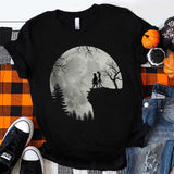 Jack and Sally Moon Halloween T-Shirt