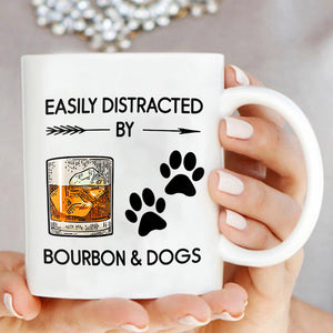 Easily Distracted By Bourbon & Dogs Mug