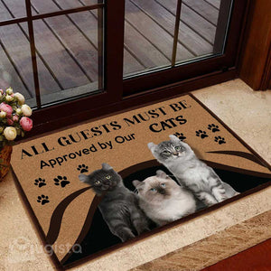 All Guests Must Be Approved By Our Cats Mat 01