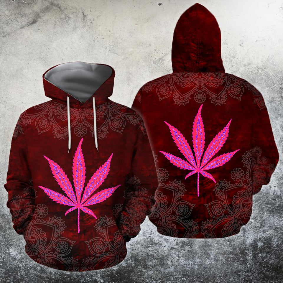 Hippie Red 3D All Over Printed Hoodie Shirt by SUN HAC30