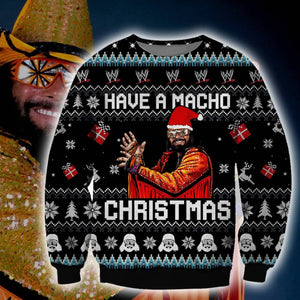 Have a Macho Christmas Ugly Sweatshirt