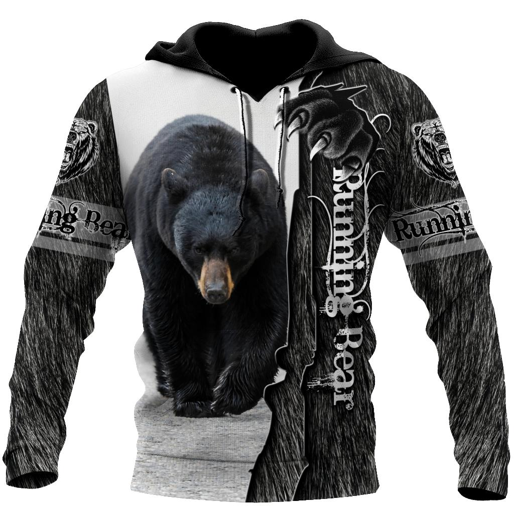 All Over Printed Bear Hoodie MEI09282001-MEI