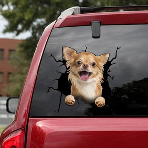 CHIHUAHUA CRACK STICKER DOGS LOVER 6