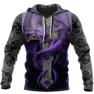 3D Tattoo and Dungeon Dragon Hoodie For Men and Women NM05
