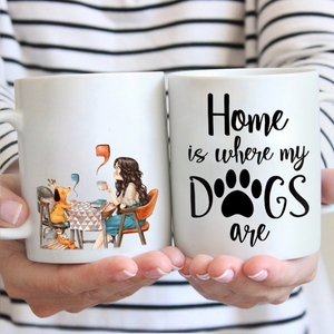 Home is where my dogs are Mug
