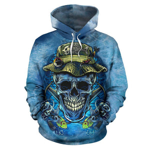 Fishing Hoodie Fishing Skull