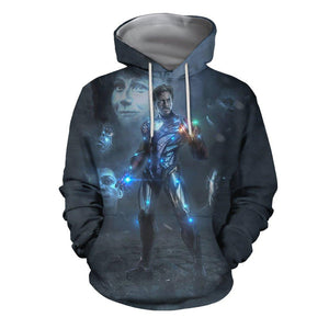 3D Print All Over I'm IronMan-Mark85 EndGame Hoodie