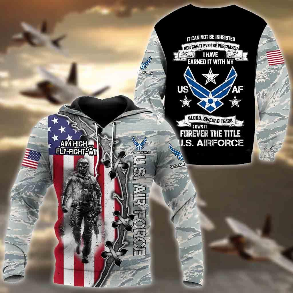 All Over Printed U.S Air Force Hoodie Pi29082001-MEI