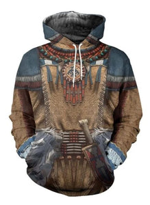 3D ALL OVER PRINTED NATIVE AMERICAN CLOTHES SHIRTS AND SHORTS NVD1310