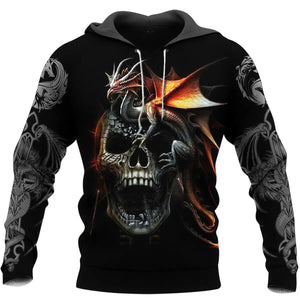 3D Tattoo and Dungeon Dragon Hoodie T Shirt For Men and Women NM05