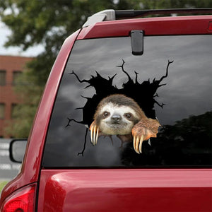 SLOTH CRACK STICKER ANIMALS LOVER