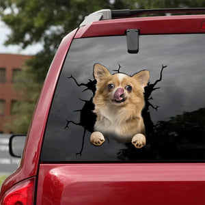 CHIHUAHUA CRACK STICKER DOGS LOVER 10