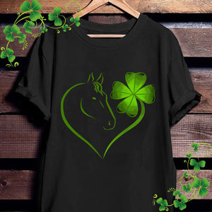 Irish Heart Shamrock Horse Lovers St Patrick's Day