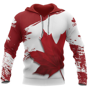 Canada Maple Leaf - Athletic Spirit Red Edition Pullover Hoodie NVD1