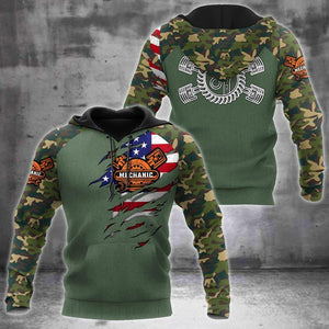 Mechanic Camo 3D All Over Printed Hoodie For Men and Women Pi15
