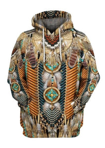 Native American Feather 3D Hoodie