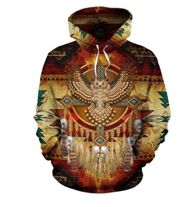 OWL DREAMCATCHER NATIVE AMERICAN PRIDE ALL OVER HOODIE NVD1309