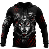 Wolf 3D All Over Printed Hoodie For Men and Women AM082071S1-TN