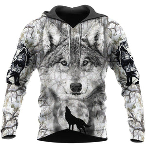 Wolf Hoodie For Men and Women NM17042001